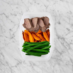 100g Mediterranean Lamb 100g Sweet Potato Fries 250g Green Beans