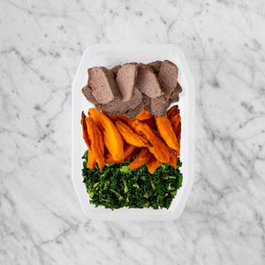 100g Mediterranean Lamb 100g Sweet Potato Fries 150g Kale