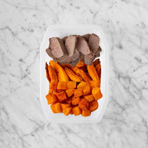 100g Mediterranean Lamb 100g Sweet Potato Fries 50g Rosemary Baked Sweet Potato