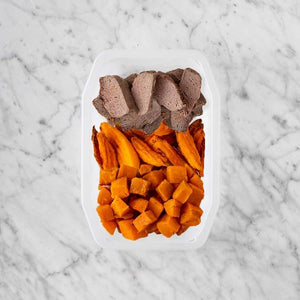 100g Mediterranean Lamb 100g Sweet Potato Fries 100g Smokey Pumpkin