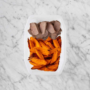 100g Mediterranean Lamb 100g Sweet Potato Fries 50g Sweet Potato Fries