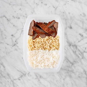 100g Smokey BBQ Steak 100g Brown Rice 200g Basmati Rice
