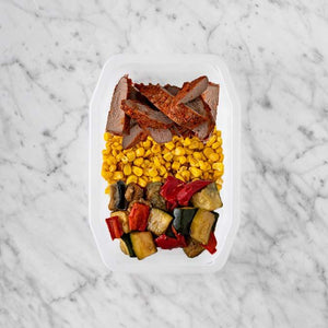 100g Smokey BBQ Steak 50g Corn 50g Char Veg