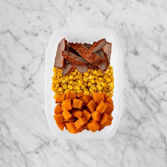 100g Smokey BBQ Steak 50g Corn 50g Smokey Pumpkin