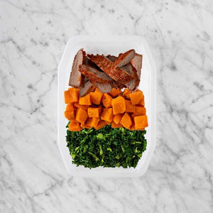 100g Smokey BBQ Steak 50g Smokey Pumpkin 150g Kale