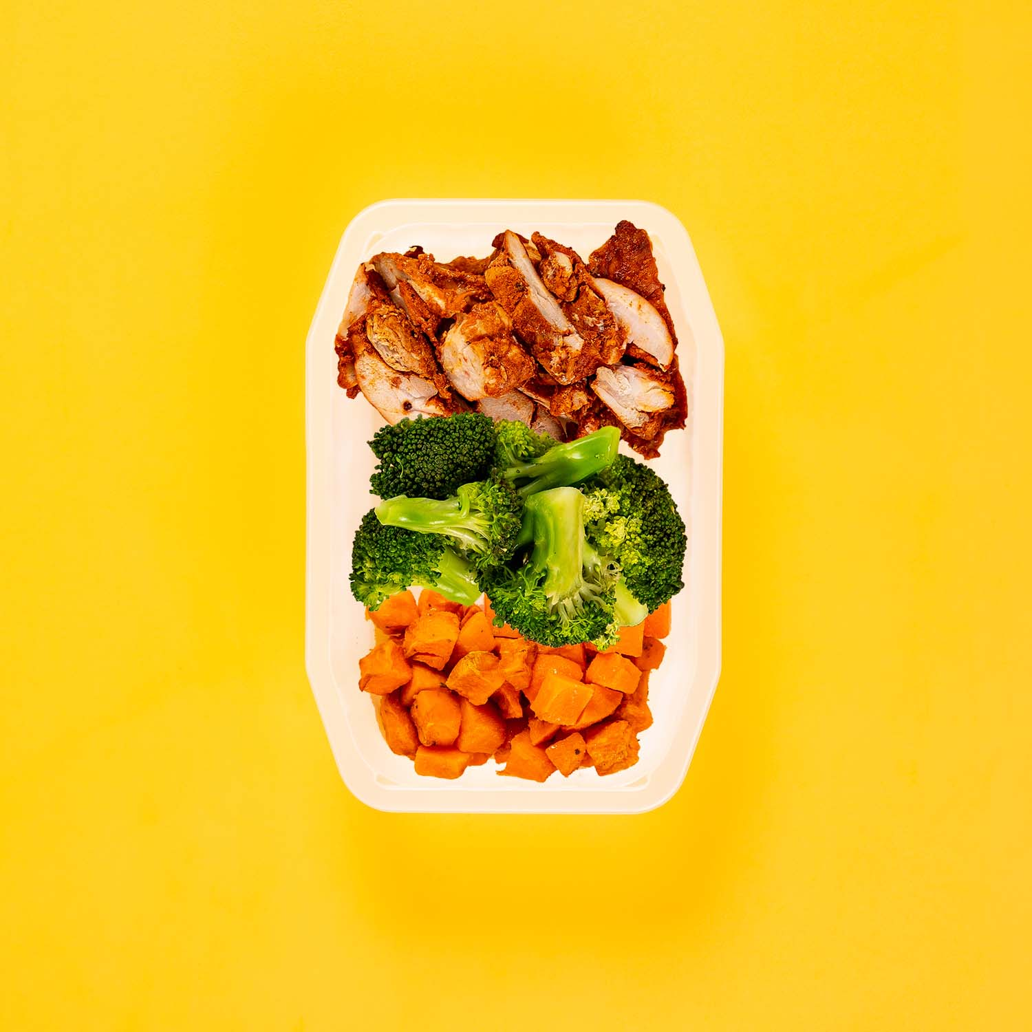 200g Chipotle Chicken Thigh 200g Broccoli 200g Rosemary Baked Sweet Potato