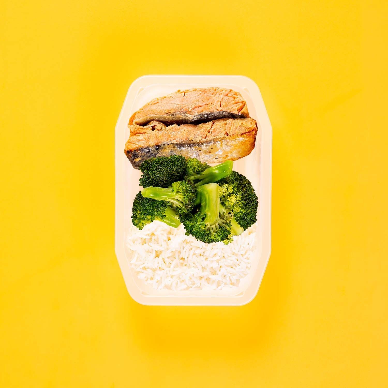 50g Miso Salmon 50g Broccoli 50g Basmati Rice