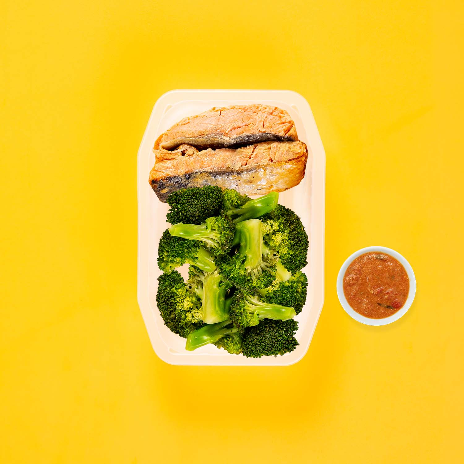 50g Miso Salmon 50g Broccoli 50g Broccoli Thai Red Curry