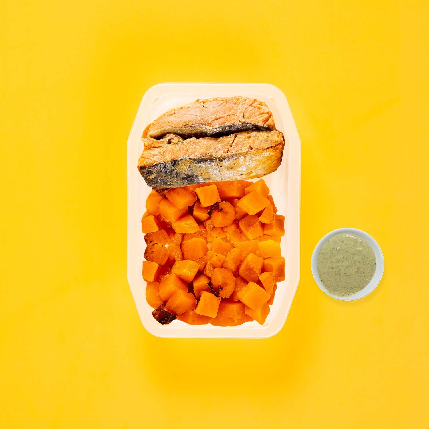 50g Miso Salmon 150g Coconut Pumpkin 100g Coconut Pumpkin Pesto Cream