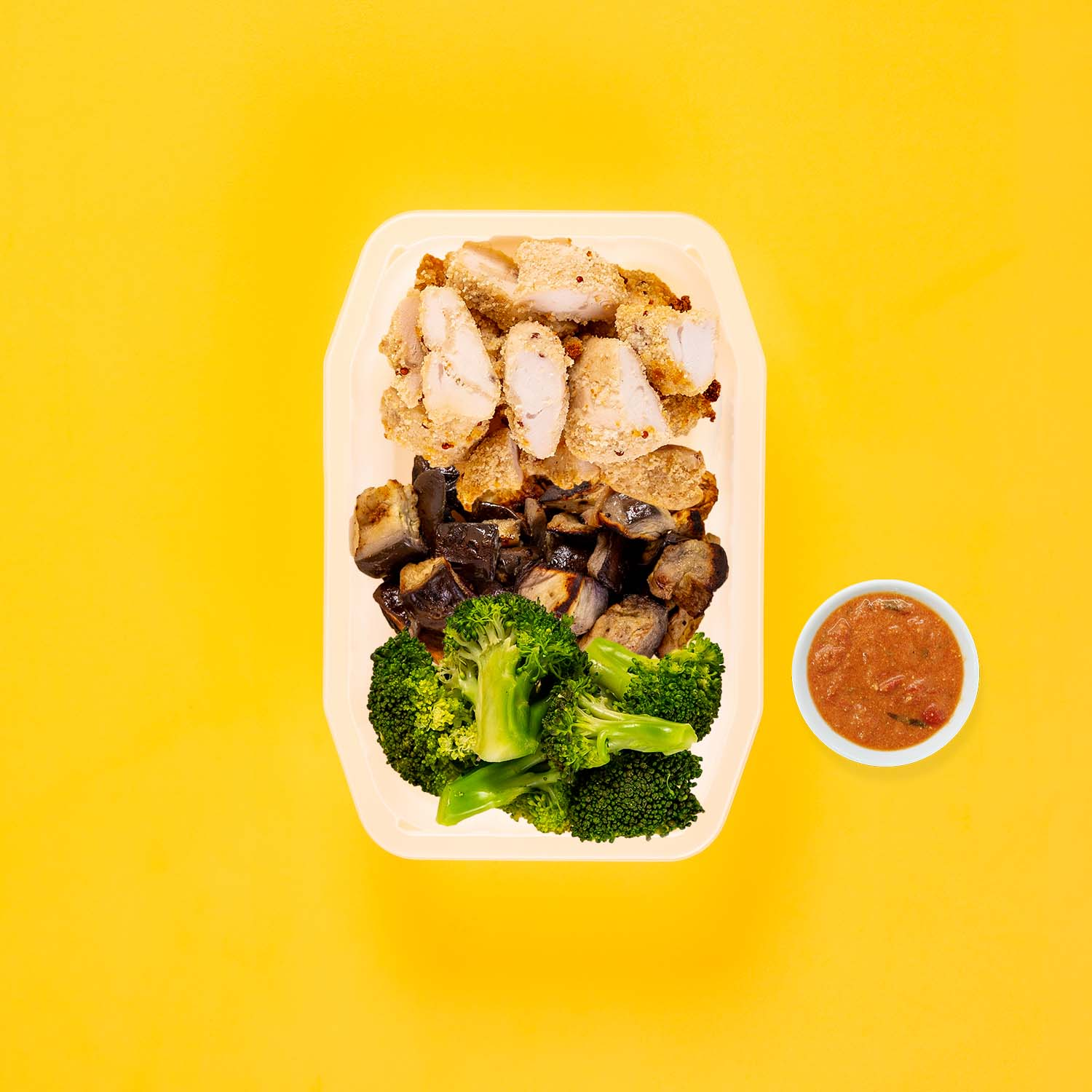 150g Quinoa Chicken Tenders 150g Miso Eggplant 200g Broccoli Thai Red Curry