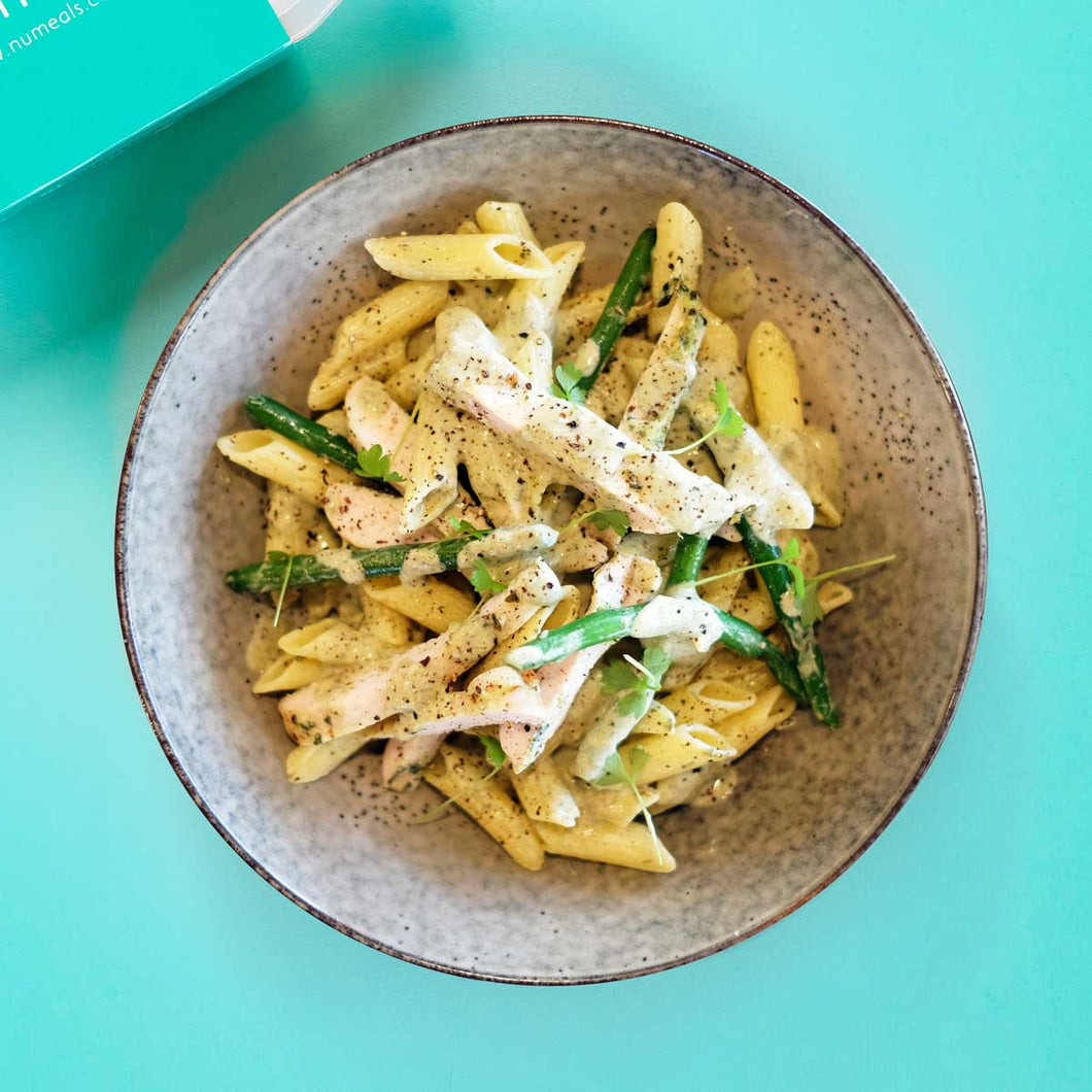 Chicken Pesto Pasta: Light