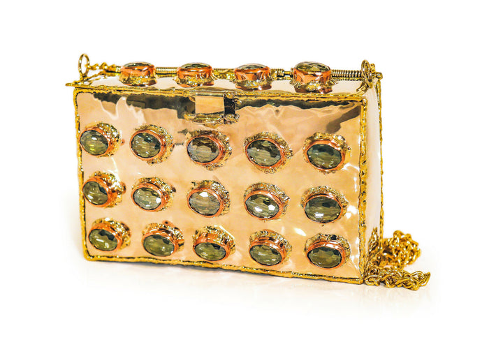 Olive Crystal Purse
