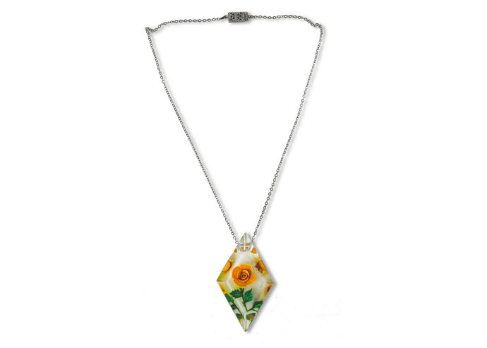 Vintage Lucite Flower Necklace