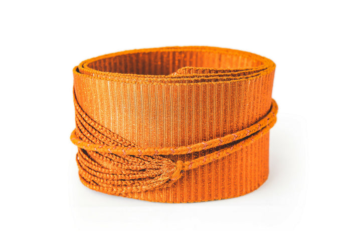 Artisan Woven Corset Belt Orange