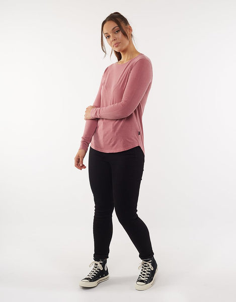 Silent Theory Kara Long Sleeve Tee | Rose