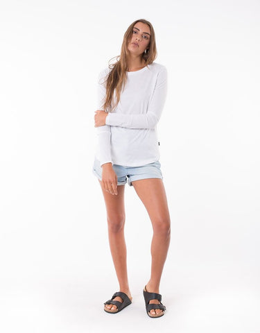 Silent Theory Kara Long Sleeve Tee | White