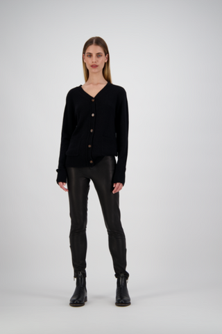 Tuesday Leather Pants | Black