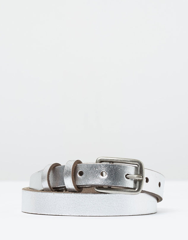 Loop Leather Co. Is It Friday Yet Belt - Silver
