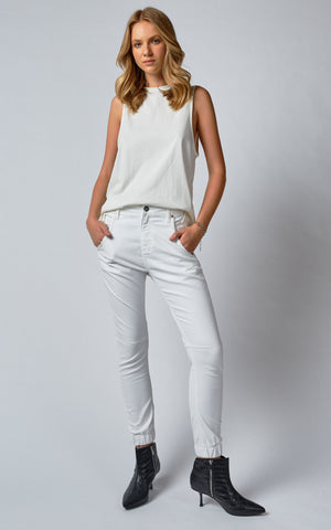 Dricoper Coated Cuff Jeans | White