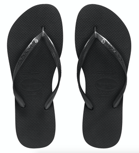 Havaianas Slim Jandal - Black with Crystal