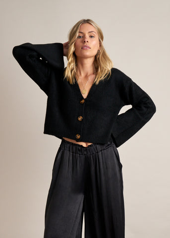 Gysette Orla Knitted Cardigan | Black