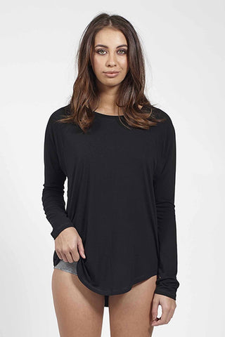 Ketz-Ke Lazy Long Sleeve Tee - Black
