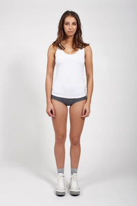 Ketz-Ke Short Core Tank - White