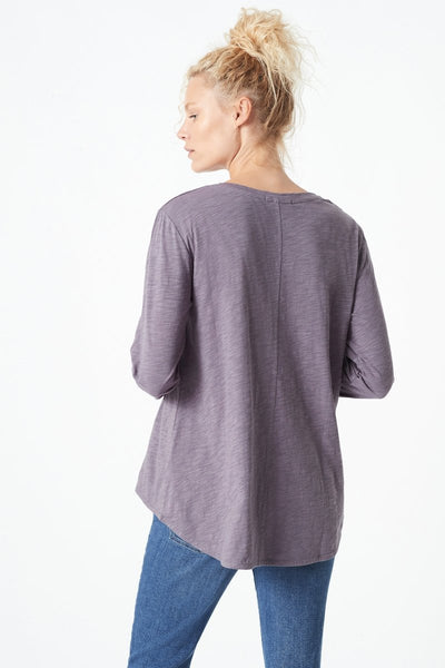 Mavi Gayle High-Low Hem T-Shirt | Anthracite