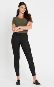 Mavi Alexa Ankle Skinny Jean - Black Jeather