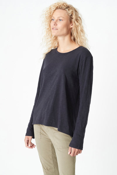 Mavi Gayle High-Low Hem T-Shirt | Navy Midnight
