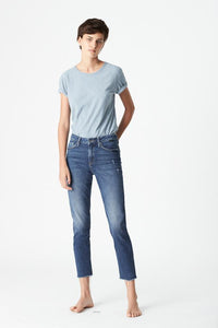 Mavi Mykonos High Rise Boyfriend Jeans - Dark Gold Icon