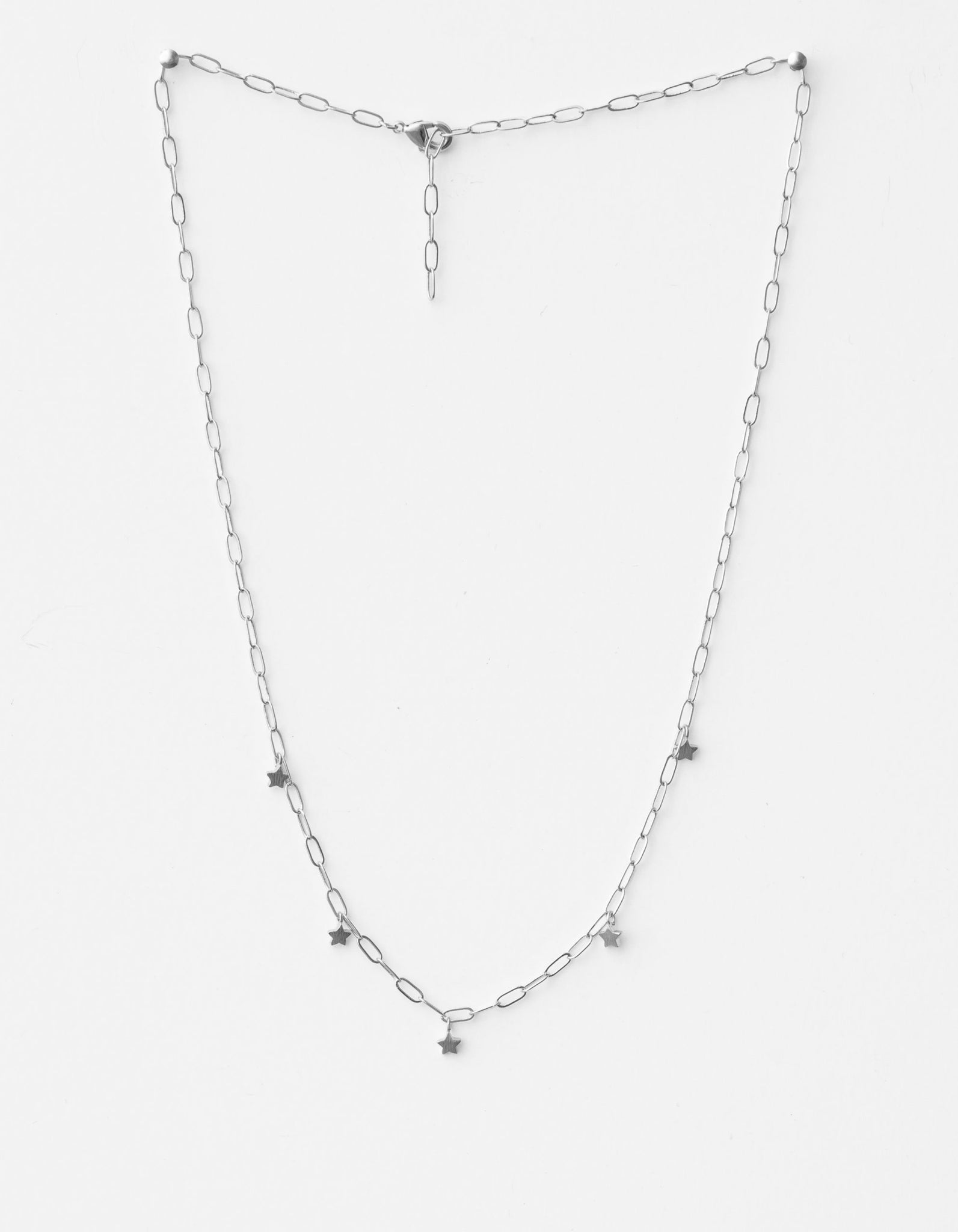 Stella + Gemma Star Chain Necklace | Silver