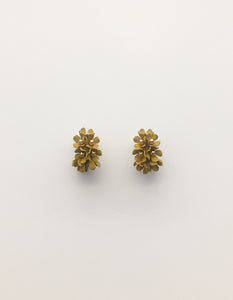 Stella + Gemma Flower Hoop Earrings - Citron