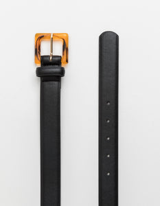 Stella + Gemma Belt - Black with Tortoiseshell Buckle