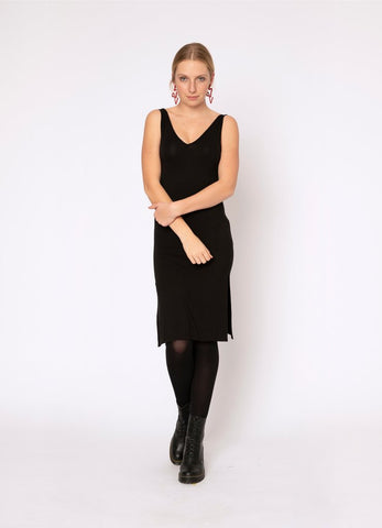 Blacklist Rayon Slip Dress | Black