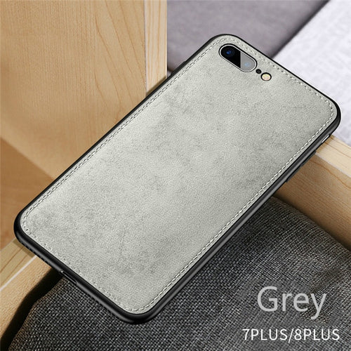 Fabric Ultra-thin Canvas Silicon iPhone Case