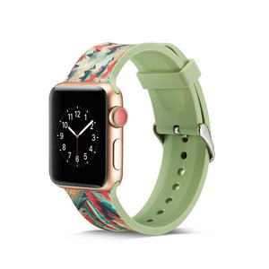 Pattern Silicone Band for Apple Watch