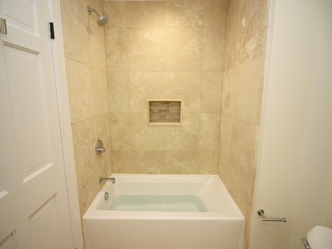 Jacuzzi White X Signature Three Wall Alcove Soaking Bathtub - Bathroom repair tutor