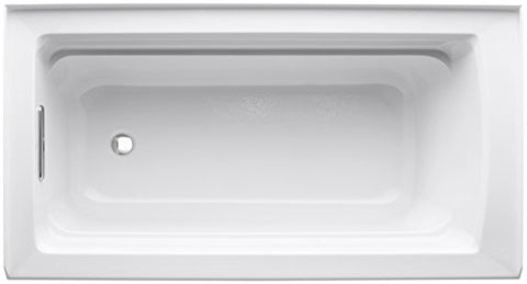 KOHLER K-1123-LA-0 Archer 5-Foot Bath, White (left hand model ...