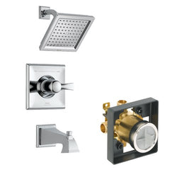 Delta Delta KTSDDR-T14451-CH Dryden Tub/Shower Kit Pressure-Balance Single-Function Cartridge, Chrome Chrome