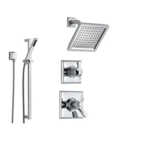 Ordinaire Delta Dryden Chrome Shower System With Thermostatic Shower Handle,  3 Setting Diverter, Modern