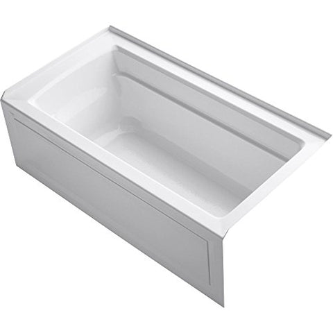 KOHLER K-1123-RA-0 Archer 5-Foot Bath, White (right hand model)