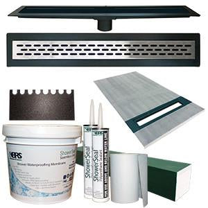 KBRS Linear Shower Pan Kit X Bathroom Repair Tutor - Bathroom repair tutor