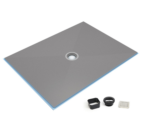 wedi Fundo Ligno Curbless Shower Base with Center Drain