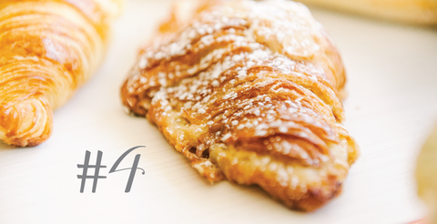 Almond croissants for breakfast and for dessert!
