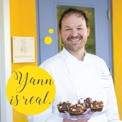Pastry chef Yann Blanchard at his Relais Desserts bakery at Yann Haute Patisserie