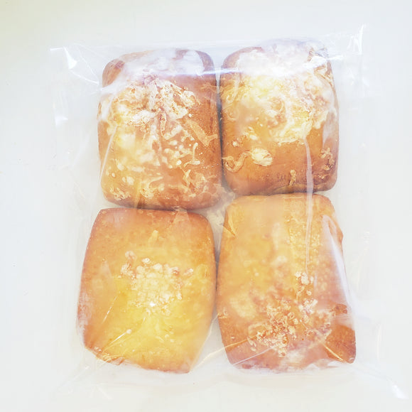 3 Pockets for easy lunches or a homey brunch on the weekend! HAM + CHEESE [Nut free] , TURKEY  and/or MUSHROOM + SPINACH  [Plant based / vegan option] Packs of 4 - Yann Haute Patisserie, French bakery known for macarons but making cakes, bread and more!