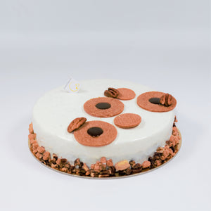 Caramel Moon for a vanilla, pecan and caramel cake from Yann Haute Patisserie in Calgary!