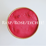 Raspberry Rose lychee sorbet - Yann Haute Patisserie French bakery on Calgary