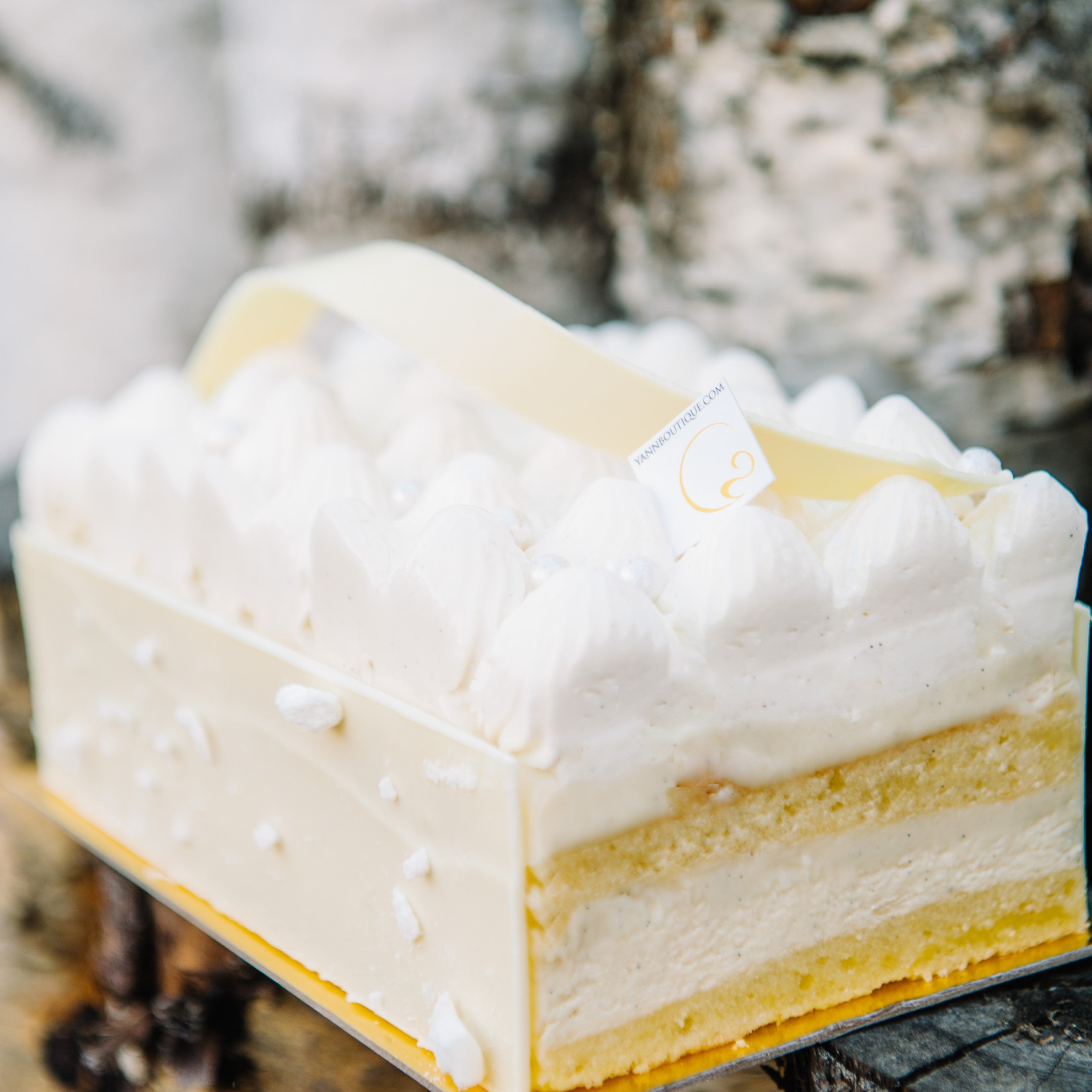 White Forest for vanilla lovers. Best vanilla cake in Calgary by Yann Blanchard